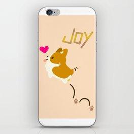 corgi - fill your life with JOY iPhone Skin