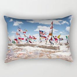 Salar de Uyuni International Flags Rectangular Pillow