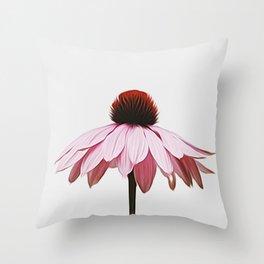 Single Pink Flower Throw Pillow