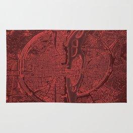 Vintage Paris Red Rug