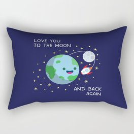 Love You to the Moon and Back Again Rectangular Pillow