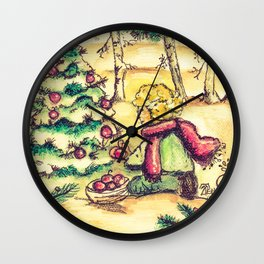 Tristan's Tree Vintage Wall Clock