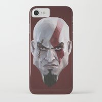 video games iPhone & iPod Cases featuring Triangles Video Games Heroes - Kratos by s2lart