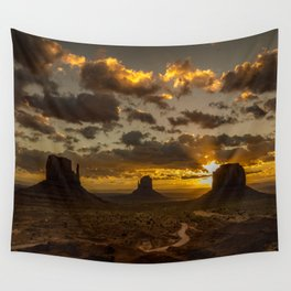 Monument Valley - Vivid Sunrise Wall Tapestry
