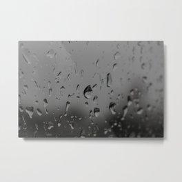 Raindrops, Kingston Ferry, WA Metal Print