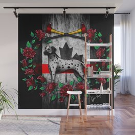 Thin Red Line Canada Version Wall Mural
