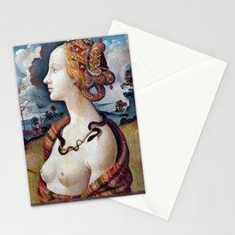 Piero di Cosimo Portrait of Simonetta Vespucci Stationery Cards