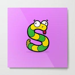 The Slithering Snake Metal Print