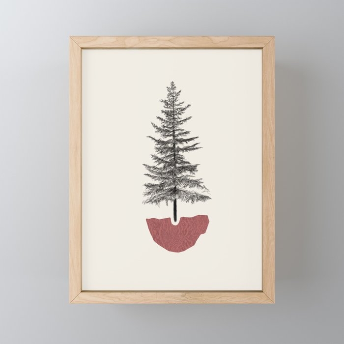 Fir Pine Framed Mini Art Print