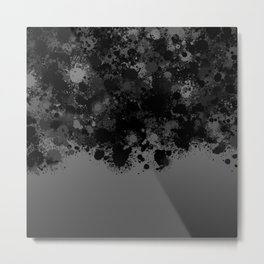 paint splatter on gradient pattern bwmb Metal Print