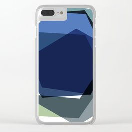 Serenity Hexagons Clear iPhone Case