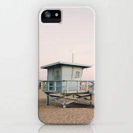 Marina del Rey Lifeguard Tower iPhone Case