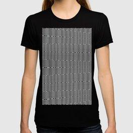 Monochrome Abstract Pattern T-shirt