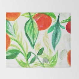 Valencia Oranges Throw Blanket