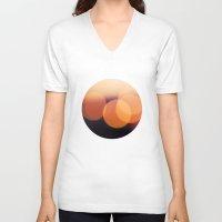 bokeh V-neck T-shirts featuring Bokeh by Benedek Varga