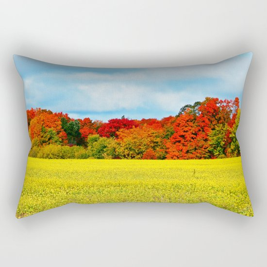 Fall Foliage Overload Rectangular Pillow