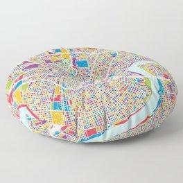 New Orleans Street Map Floor Pillow