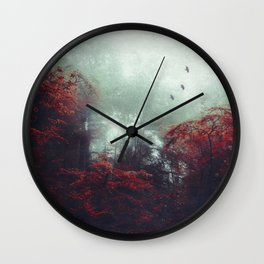 Barrier - enchanted forest Wall Clock