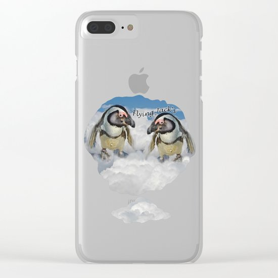 Flying Jack Clear iPhone Case