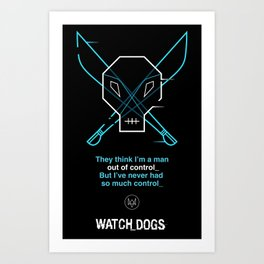 Cyber Pirate Art Print