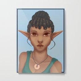 Woman Elfe Metal Print