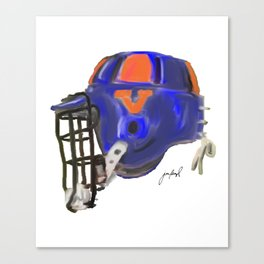 UVA bucket helmet Canvas Print