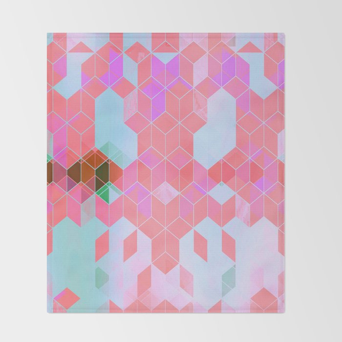 Pink Groove Throw Blanket