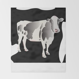 Country Cow Throw Blanket
