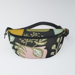 Plant Mix-plant pattern colorful vases greens plant lover plant lady nature pattern plant and vase Fanny Pack