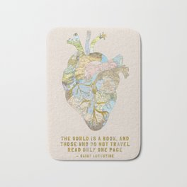 A Traveler's Heart + Quote Bath Mat