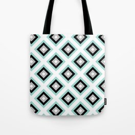 Turquoise Diamond Pattern | Winter | Mint | Art Deco | For Her | Boho | Luxury | Modern Tote Bag