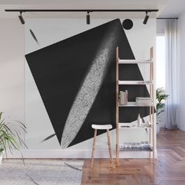 White Flash on Black Wall Mural