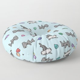 Hammerhead Sharks Floor Pillow