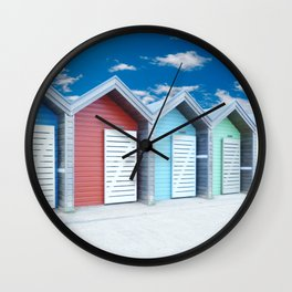 'Beach huts' Northumberland Wall Clock