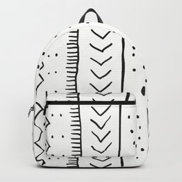 Moroccan Stripe in Cream and Black Backpack
