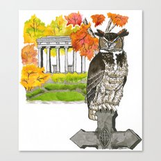 Great Horned Owl in Graceland Cemetery Canvas Print