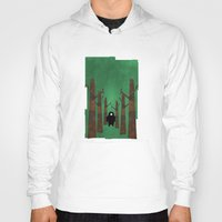 sasquatch Hoodies featuring Sasquatch in Trees by Ryan W. Bradley