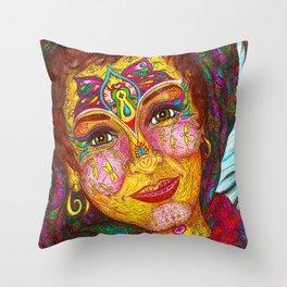 Wisdom Keeper Color #49 (Peaceful Revolution) Throw Pillow