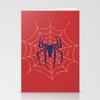 spider Stationery Cards featuring Spider by Vickn