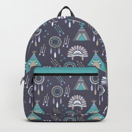 Indian Pattern Purple Backpack