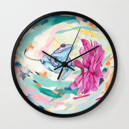Frog Trip Wall Clock