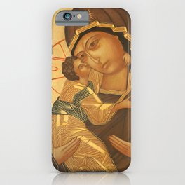Orthodox Icon of Virgin Mary and Baby Jesus iPhone Case