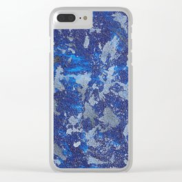 Blues Cosmos #2 Clear iPhone Case