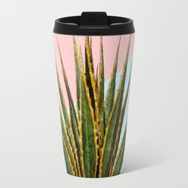 Agave Plant on Pink and Teal Wall Travel Mug