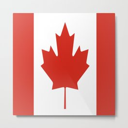 red maple leaf flag of Canada Metal Print
