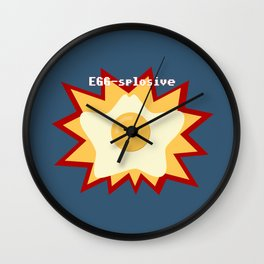 EGG-splosive!! Wall Clock