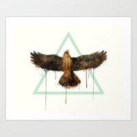 falcon Art Prints featuring Falcon by Amy Hamilton
