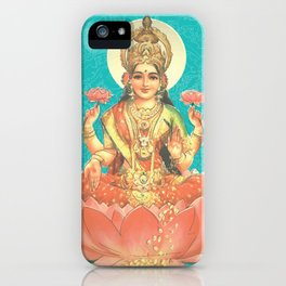 Lakshmi, Goddess of Love (Turquoise) iPhone Case