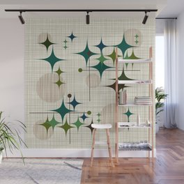 Starbursts and Globes 1 Wall Mural
