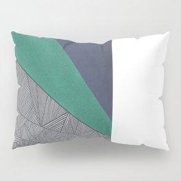 Black, Turquois, Dark Blue Pillow Sham